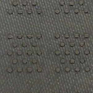 Door Mat Cleated Rubber Backing
